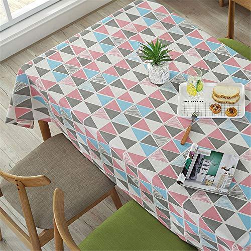 MMHJS Tischdecke Baumwolle Und Leinen Einfache Moderne wasserdichte Und Ölbeständige Tischdecke Tischdecke Weihnachtsdekoration B 100X140 cm / 39X55 In -