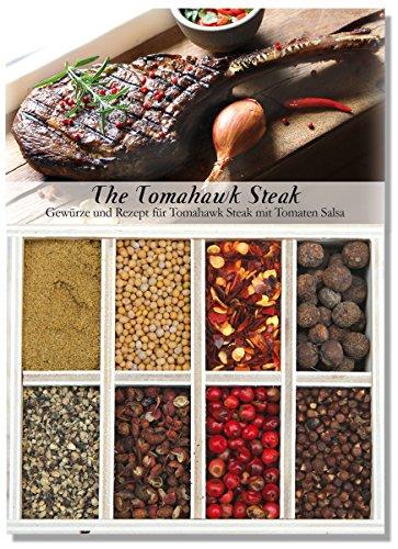 The Tomahawk Steak – 8 Gewürze Set für ein mächtiges Steak (52g) – in einer schönen Holzbox – mit Rezept und Einkaufsliste – Geschenkidee für Männer und Feinschmecker von Feuer & Glas