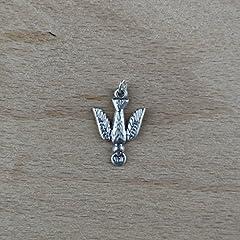 Idea Regalo - Ciondolo Colomba dello Spirito Santo placcato argento - 10 pezzi
