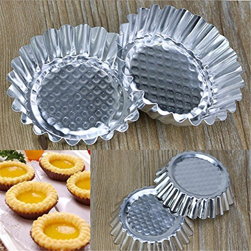 Baking Tools - 20pcs Lot Egg Tart Aluminum Cupcake Cake Cookie Mold Pudding Mould Tin Baking P0.21 - Wilton Beginners Tools Adults Napkins Rolling Gift Decorating Gadgets Tulip Russian Dogs -