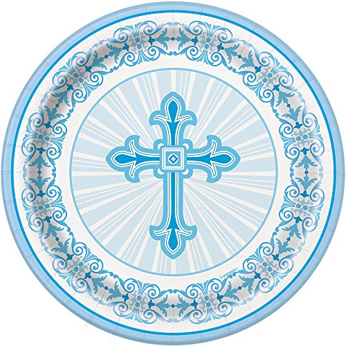 18cm-radiant-cross-blue-religious-party-plates-pack-of-8