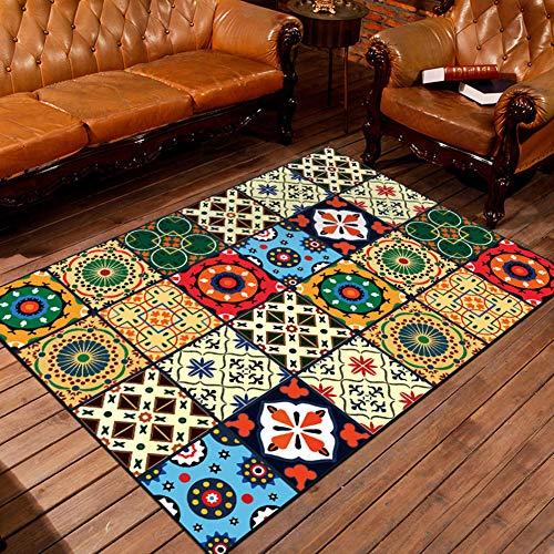 Z-lareina stile nordico soggiorno tappeto antiscivolo lavabile arredamento per camera da letto, divano, tavolino rettangolare tappetino, 1, 80 x 120 cm