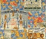 Der Zirkus, Baumwolle, Blau-Fat-Quarter - 55 x 50 cm