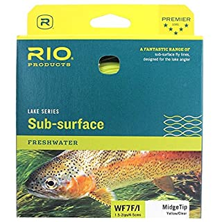 Rio Products Fly Line Aqualux Midge Wf7F/I Clear Tip/Yellow, WF7FI
