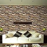 wanshop® 3D Wall Paper Brick Stone Rustikal Effekt Wandtattoo selbstklebend stein Fliesen anti-mold schälen und Wandtattoo decorhome Decor