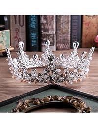 TOUSHI Matrimonio Corona Imperiale Rhinestone di Cristallo Copricapo per La  Sposa Festa di Comunione Fasce per Capelli Corona A… 34fc958f53a9