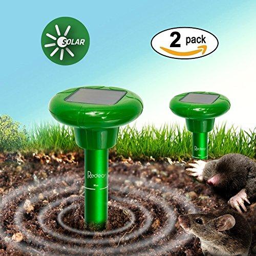 Set di 2 Repellente Solare Scaccia Talpa con Vibrazione Ideale per allontanare...
