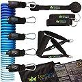 ZenBands - Resistance Band Widerstandsband Set mit GRATIS E-BOOK | 5 Fitness-Tubes, Griffe, Fußschlaufen, Türanker, Tasche & Einstiegsguide | Gymnastikband Fitnessband Expander Set von ZenOne Sports®