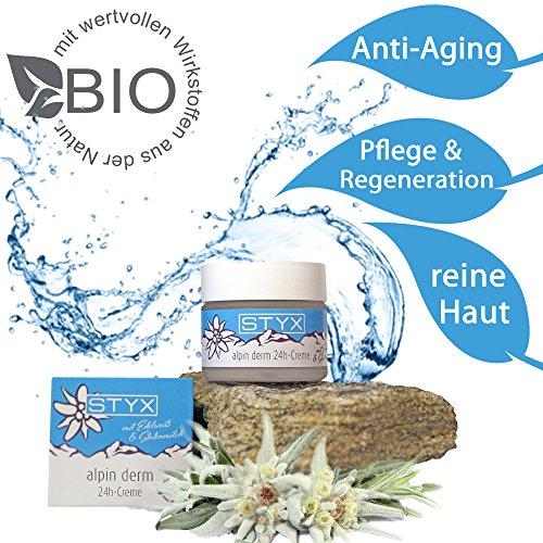 BIO Haut-Pflege Creme 24h (50ml) NATURKOSMETIK das BESTE aus den Alpen OHNE ALUMINIUM & Tierversuche IDEAL für trockene, empfindliche Haut & Mischhaut | regenerierende, hautglättende Gesichtscreme | ZERTIFIZIERT | Anti Aging Creme Natur |KEINE Hautprobleme Rötungen Falten AKNE Pickel Mitesser unreine, fettige Haut | Hautbild verfeinern Feuchtigkeits-spendend Haut-Straffung Fältchen glätten Poren verkleinern Mimikfalten loswerden Gesichts-Verjüngung Gesichtspflege als Tagescreme & Nachtcreme