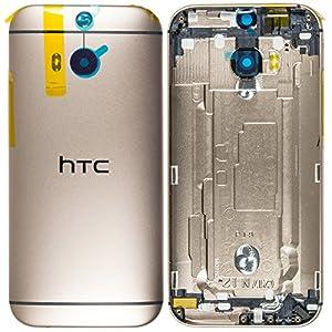 Original HTC Akkudeckel / Backcover für das HTC One M8 - rosé-gold (Akkufachdeckel, Batterieabdeckung, Rückseite, Back-Cover) - 74H02615-03M