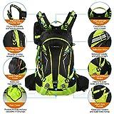 TOMSHOO 20L Fahrrad Rucksack, Multifunktionaler Wanderrucksack für Radfahren Outdoor Reiten Bergsteigen mit Regenschutzkappe - 3