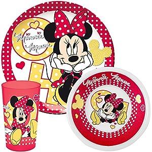 Ciao 33474-Juego tabla Minnie, rojo/blanco