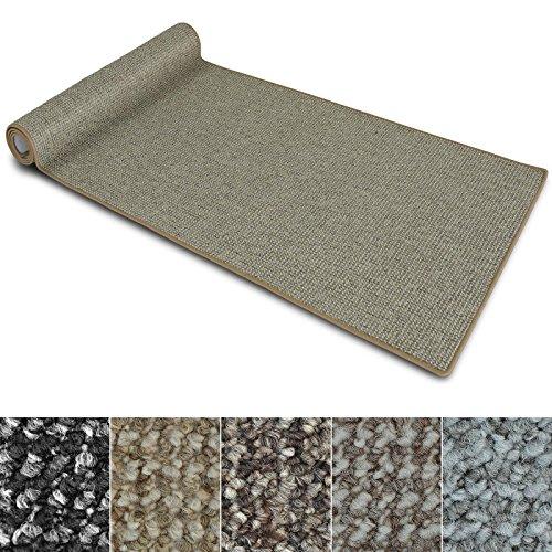 Teppich Läufer Carlton | Flachgewebe dezent gemustert | Teppichläufer in vielen Größen | als Küchenläufer, Flurläufer | mit Stufenmatten kombinierbar (Beige - 80x200 cm)