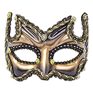 Venetian style eye mask, gold and black (máscara/careta)