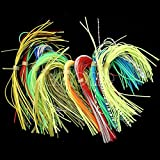 #7: 10Pcs/Lot 13cm Fly Tying Threads Skirts Straps for Flies Lures Beard Wire Making