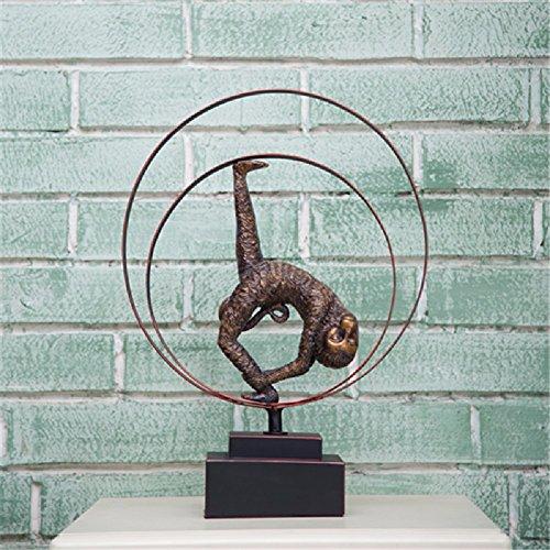 ZPSPZ Inneneinrichtungsgegenstände Dekorative Handwerk Der Europäischen Hochwertigen Eisen Harz Retro - Affen