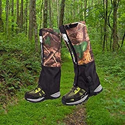 Calentadores para cubrir el cazado y las piernas, para hombre o mujer, impermeable, cortavientos, protección para la nieve, senderismo, esquí, escalada, caza, o actividades en entornos boscosos, estampado de camuflaje, de Fucnen