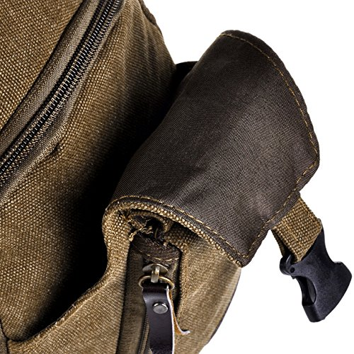 Faleto Herren klein Military Messenger Schultertasche Reise Wandern Outdoor Sport Tasche Sling Bag Unwucht Rucksack Crossbody Brust Schultertasche, Khaki/Kaffee/Schwarz Kaffee