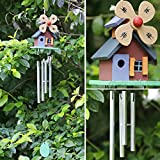 dairyshop 4Röhren Holz Haus Klangspiele, copper-tone Windmühle Cabins Hof Garten Decor Geschenk Neu