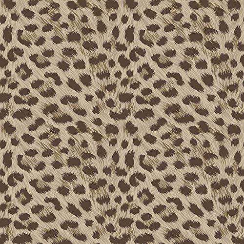 Carta da parati Fine Decor leopardato effetto pelliccia marrone tortora metallizzato