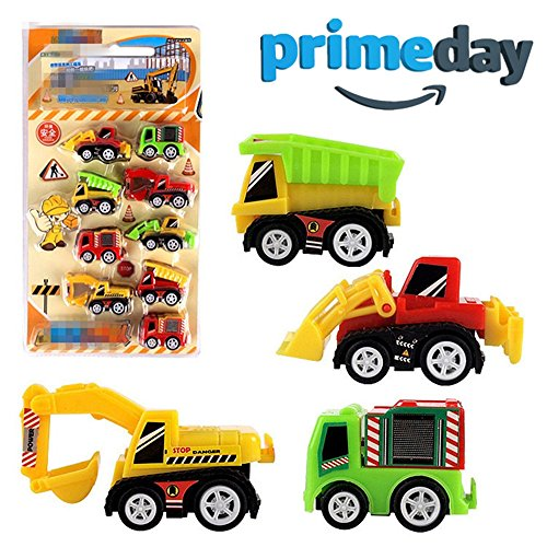 Genießen Spielzeug Modelle Fahrzeuge Auto Verkehrsmodelle Baufahrzeuge Kunststoff Spielzeugauto für Kinder ab 3 Jahren 9 (Kostüm Bagger)