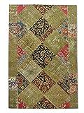 Pak Persian Rugs Handgeknüpfter Flicken Teppich, Mehrfarbig, Wolle, Medium, 168 X 252 cm