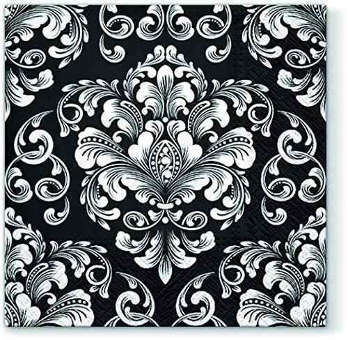 e Ornamente schwarz/weiß/Muster/Fest/Feier 33x33cm ()