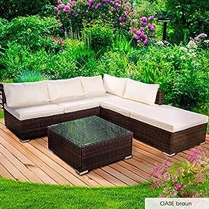 BRAST Poly-Rattan Gartenmöbel Lounge Set 14 Modelle 3 Farben 4-12 Personen Sitzgruppe OASE Braun