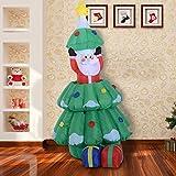 Arbol de Navidad + Papa Noel Hinchable + 2 Infladores y Luz LED Navidad Decoracion