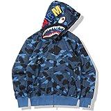 Bape Sweatshirt met capuchon voor heren en dames, universele hoodie, jeugd volwassen pullover volledige rits jas