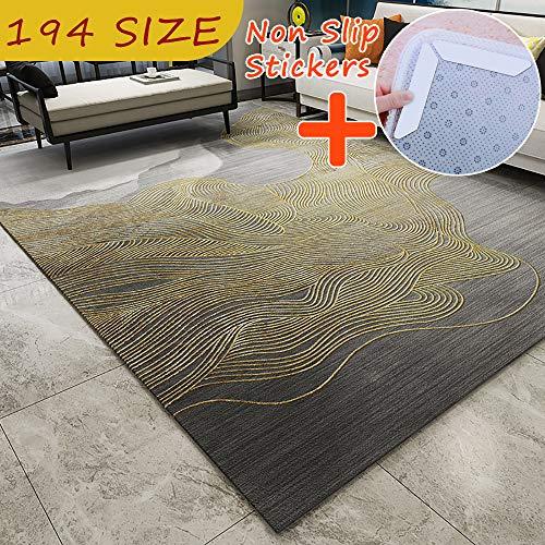 MODKOY alfombras Gruesas Tela Lavable Tejidas Shaggy Ultra Suave Piel de Cordero Oveja Antideslizantes...