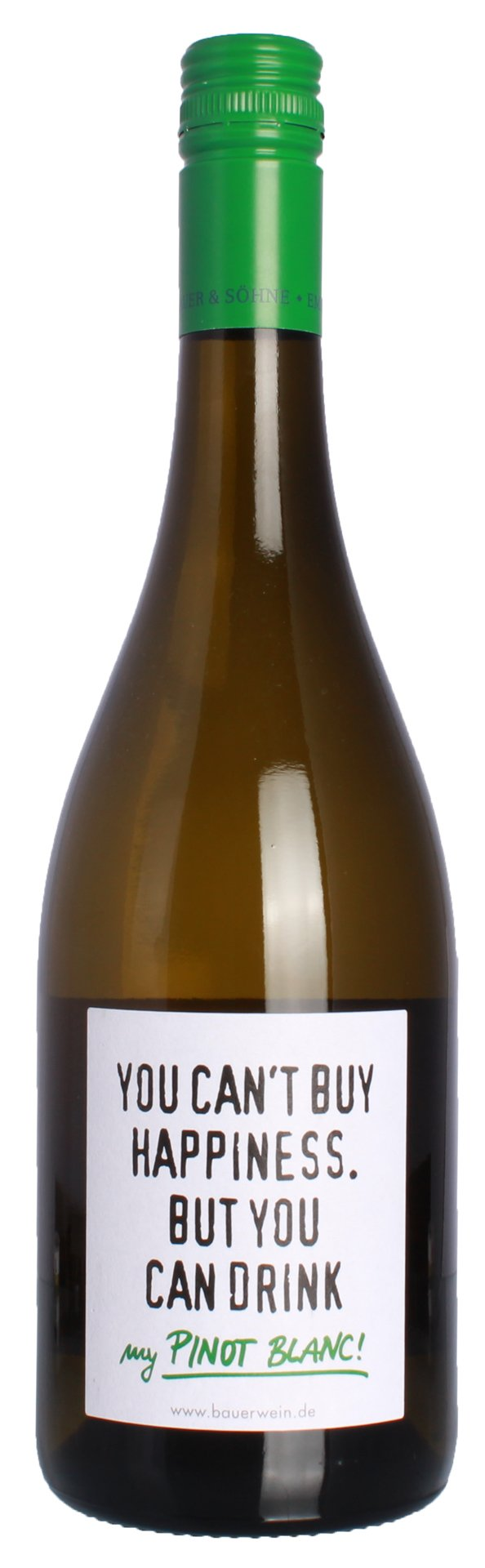 Weingut-Emil-Bauer-You-cant-buy-happiness-But-you-can-drink-my-Pinot-Blanc-QbA-Weiwein-trocken