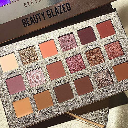 hahuha Schönheit sprodukte für Erwachsene,Schimmern Sie Glitter Lidschatten Pulver Palette Matte Lidschatten Kosmetik Make-up - Tragen Sie Augen-palette