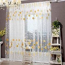 Vorhänge ösen Wohnzimmer Modern Jamicy® 100 X 200cm Neu Mode Auto  Transparent Orientalisch Muster Blume