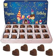 Bogatchi Happy Birthday Gifts for Someone Special Premium Dark Chocolates, 240g