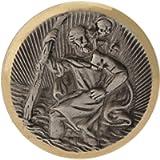 Cartrend 60152 Medaglia San Cristoforo, argentata con taglio filigranato di diamanti