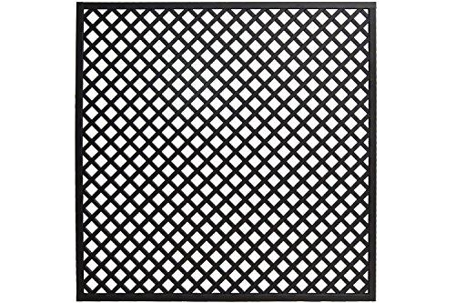Andrewex Zaunelement 180 x 180 cm Gitter Holzgitter Spalier lasiert, Farbton Anthrazit aus Kieferholz