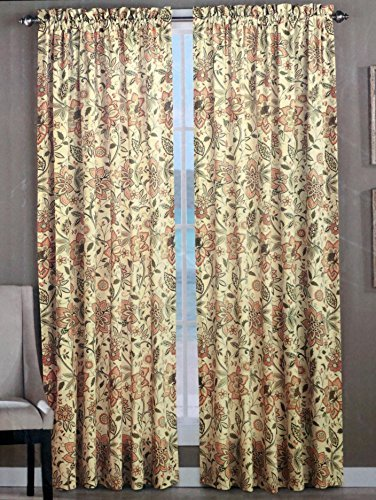 tommy-bahama-set-of-2-window-panel-curtains-olive-beige-peach-floral-pattern-on-cream-52-inches-by-9