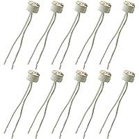10 Pack of MR16 GU5.3 Led Bulb Base Ceramic Socket,FINELED MR16 G5.3 Mr11 Lamp Holder for 12V Halogen & LED Bulb,Wire Connector Base Socket Adapter