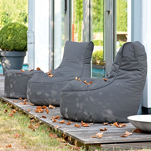 Sitzsack Outdoor: Sitzsack Outbag Slope Kollektion Plus in Anthrazit