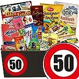 50. Geburtstag | Geschenke Schokolade für Männer | GRATIS DDR Kochbuch | mit Zetti Knusperflocken, Zetti Edel Bitter und mehr | Schoko Box