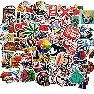 ANKENGS Sticker Pack [100pcs], Graffiti stickers, Vinyls stickers, Random Sticker, Car stickers, for Bicycle, Motorcycle, Cars, Skateboard, Laptop, Skateboard, Luggage Suitcase ...