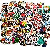 Sticker [100-Pcs] Stickers Vinili/Graffiti Sticker/Adesivo casuale, per Laptop, Auto, Moto, Biciclette, Skateboard Bagagli, Adesivi per paraurti
