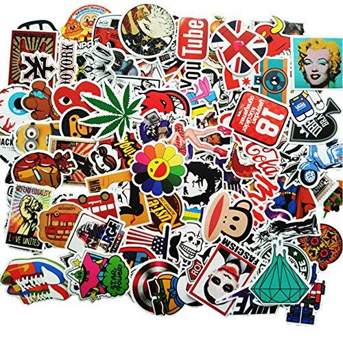 ANKENGS Aufkleber Pack [100-pcs] Graffiti Sticker, Vinyl Stickers, Zufälliger Aufkleber, Vervollkommnen Sie zu Den Laptops, Skateboards Fahrrad, Autos, Kinder, Motorrad, Gepäck, iPhoneund Mehr