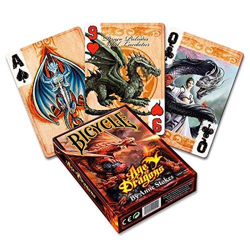 Bicycle Age of Dragons, Pokerkarten, Playing Cards, Spielkarten,Anne Stokes + 3 ''Look & Feel''-Karten