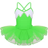TiaoBug Girls Tulle Ballet Dance Leotard Tutu Skirt Tiered Princess Dress