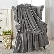 Flannel Fleece Throw Blankets Size Single Warm Fuzzy Microfiber Blanket For Bed Or Sofa