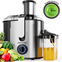 Monzana 101635 - Centrifugeuse en Inox Fruits et légumes 1100W, Extracteur de jus, Capacité 1L, Ouverture 85mm