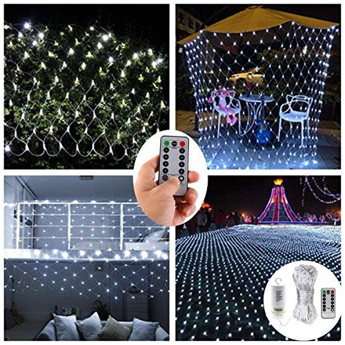 tzlichter,200er LED Lichterketten Netz für Außen Innenräume,3M x 2M,Deko Leuchte für Weihnachten Party Garten Terrasse Hochzeit -Fernbedienung,Wasserfest,8 Modi,Timer,Dimmbar ()