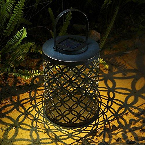 Solarlampe für Außen Garten Laterne, Tomshine Solar Laterne für draußen, IP44 Wasserdicht Hängeleuchte Deko Solar Gartenlaterne